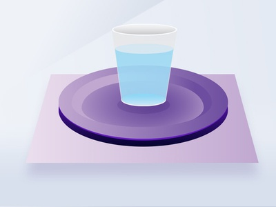 Floating Cup Volt drawn lines drawing test purple icons illustration noise glassware water glass floating