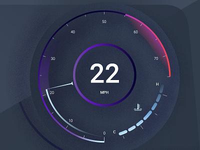 Movement Gauge Volt purple lines drawing icons noise illustration design instrument cluster movement