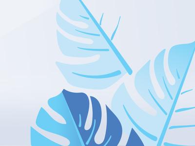 Leaf Sample Volt drawn design illustration noise test lines samples colors blues sample