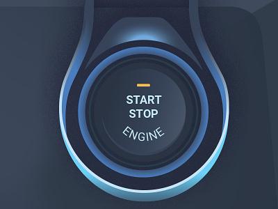 Car Push Start Volt design lines drawing illustration noise instructions car instruments push start