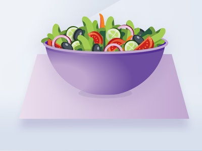 Garden Salad Volt drawing test drawn design purple lines icons noise illustration salad
