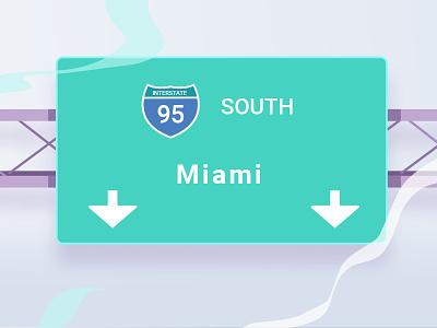 I95 Signs Volt intersate breeze noise illustration design signs highway