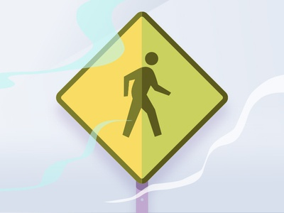 Pedestrian Signs Volt test drawing design hue yellow lines noise illustration trip cars signs streets walking