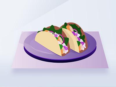 Mahi Tacos Volt test drawing lines design drawn purple noise illustration fresh taco tuesday tacos fish