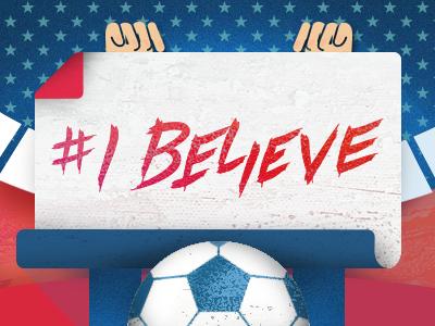 Ibelieve usa soccer team vector art worldcup