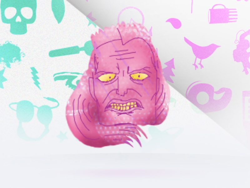 Warriorloop warrior illustration animation drawn texture