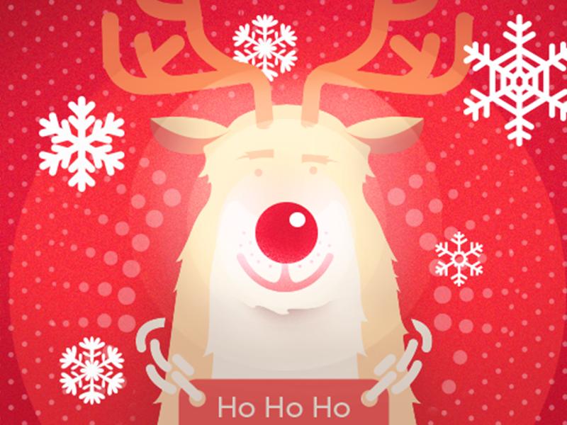 Rudolf raindeer rudolf xman christmas antlers red noise snowflakes jingle
