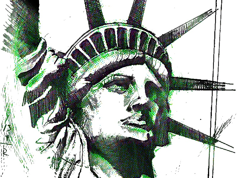 Statue Of Liberty old drawing statueofliberty