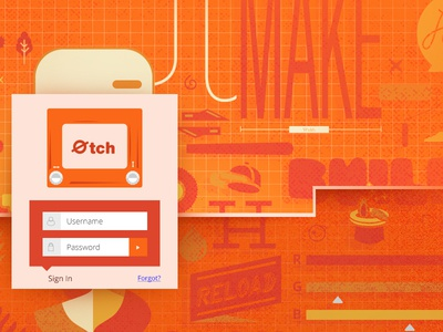 Ecth page cut orange design icons etch on sign