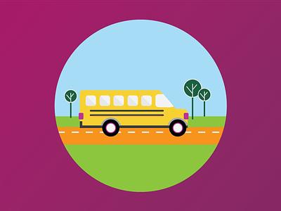 Schoolbus school schoolbus illustration