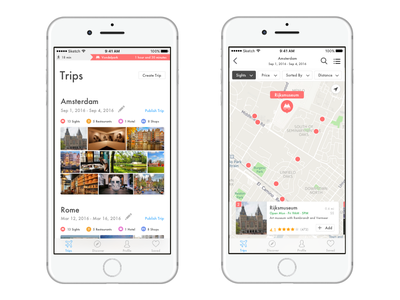 Travel Itinerary Builder itinerary travel map ios