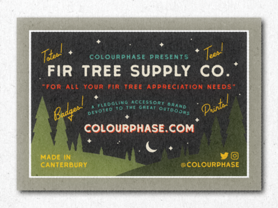 Fir Tree Supply Co business card