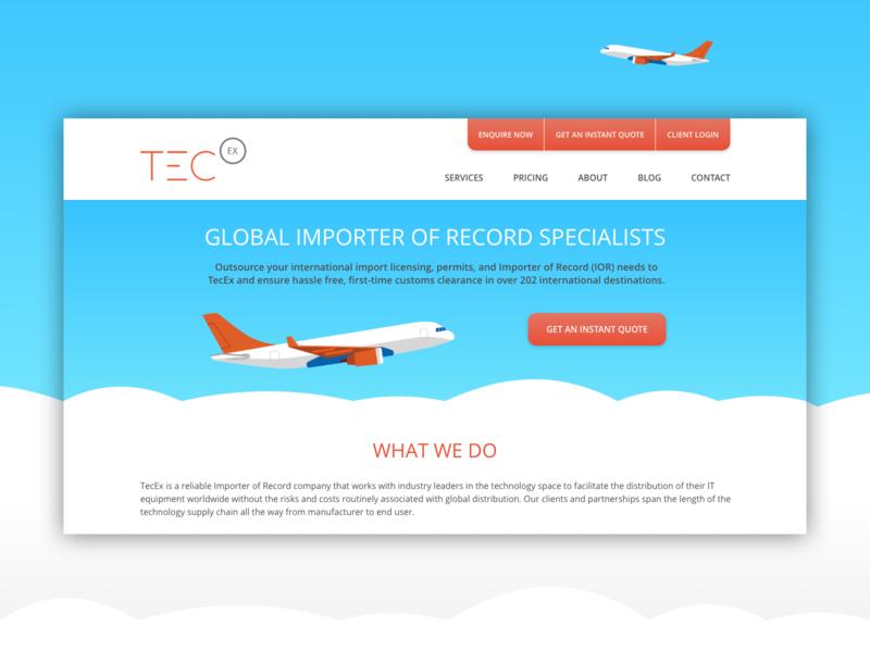TecEx Website Concept digital illustration web responsive design website vector ui illustration design