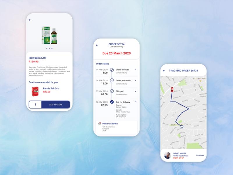 Concept for a Pharmacy App ux online shopping mobile app app design ui design