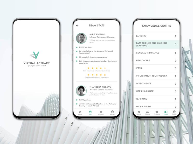 Virtual Actuary App Concept app ux ui design