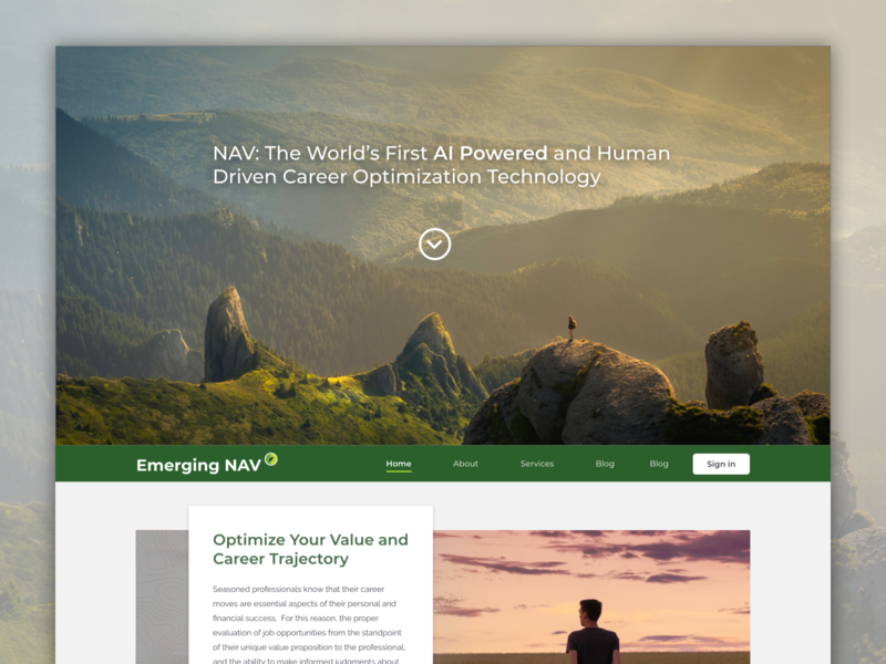 NAV Prototype for a Startup adobe xd logo web responsive design website ui design