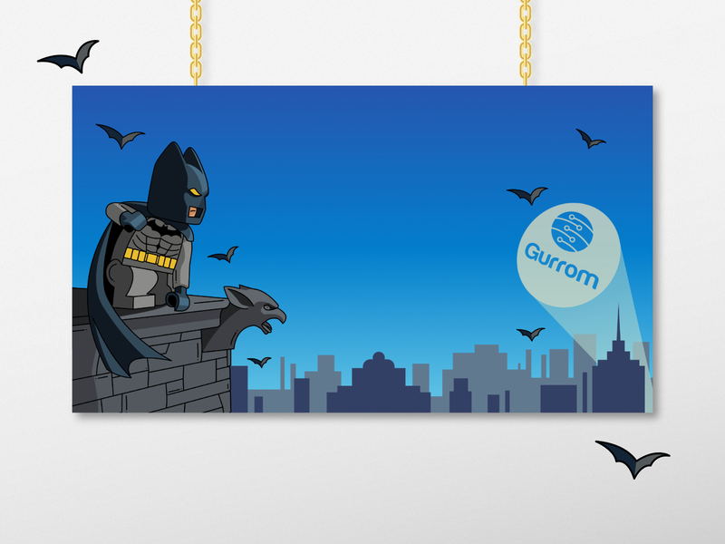 Lego Batman Illustration wallpaper design zoom background wallpaper illustration design