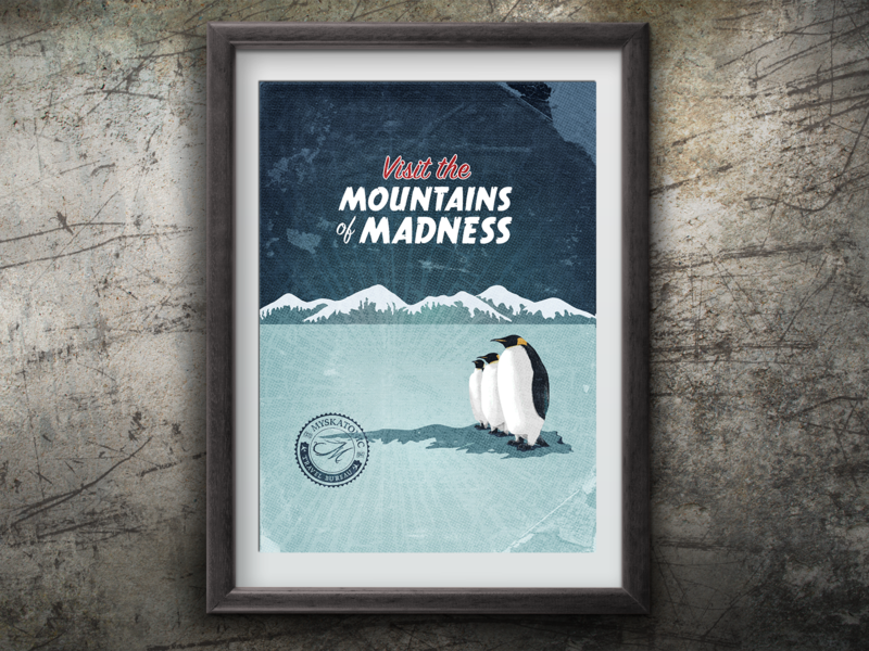Visit the Mountains of Madness vector illustration design