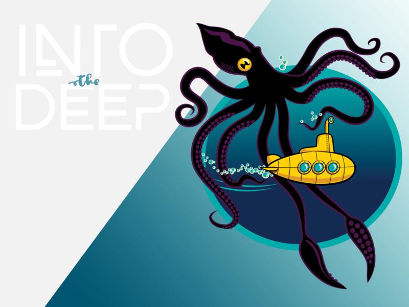 Into the Deep illustration vector design