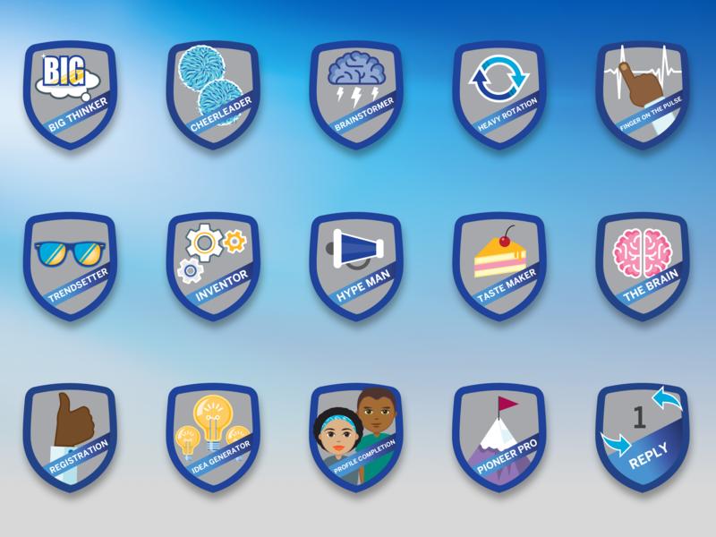 Gamification badges for Standard Bank illustration vector design