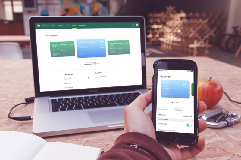 Nedbank Freeze Card app responsive design website ui design
