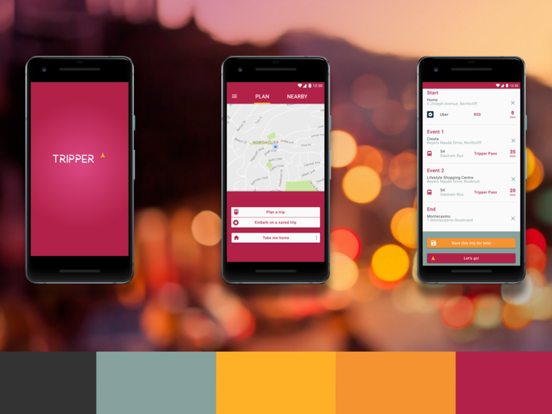 Concept for a Gautrain app product design app ux ui design