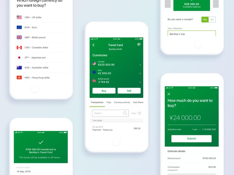 Nedbank Travel Card Update responsive design ux app design ui