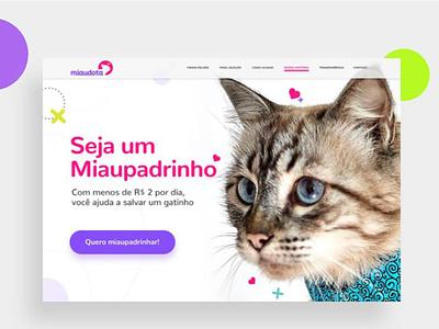 ONG Miaudota Onepage design typography ux web ui