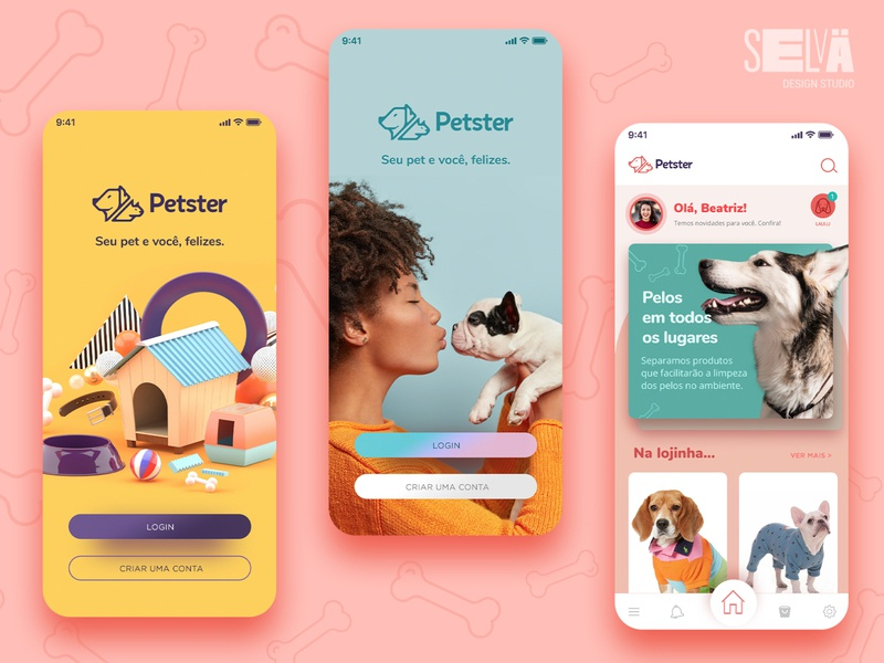 Petster Mobile interface app design app interfacedesign ui