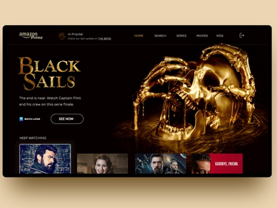 Amazon Prime TV web ux typography ui