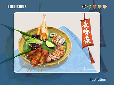 Thai food illustration