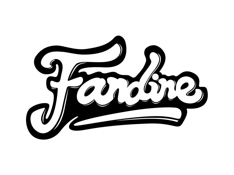 Lettering of Fandine cute lettering