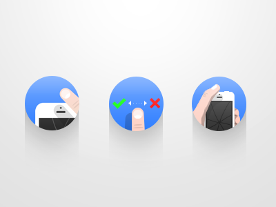 iOS App Features ios app features icon finger gesture iphone swipe blue round