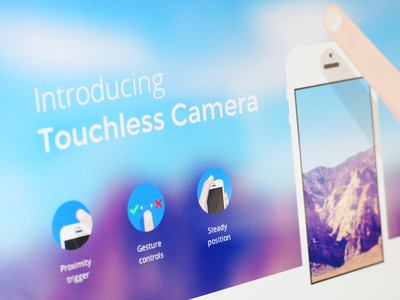 Touchless Camera camera touchless proximity sensor blur finger iphone ios app