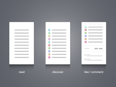 Early Wireframes wireframe mockup app writing reading like comment