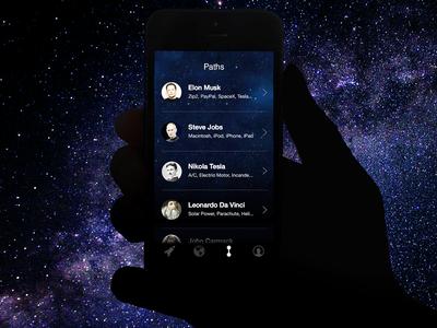 Explorers Paths hand app iphone ios explorer paths list galaxy space