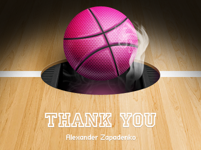 Thank you thank you dribble invite drafted ball wood