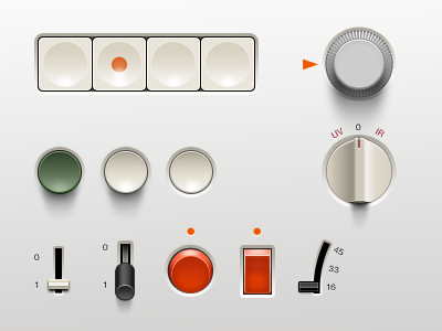 Braun UI braun ui switch button potentiometer slider d.rams gui dieter rams