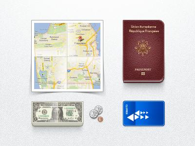 SF Immigrant Toolkit sf immigrant toolkit .psd map bill money coin card passport