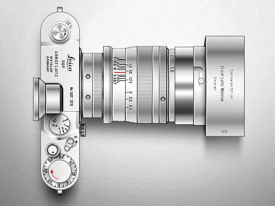 Leica Camera leica camera aluminum brushed psd creativemarket