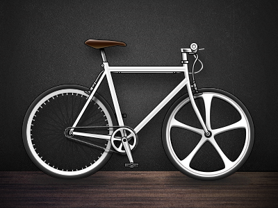 Hipster Bike bicycle hipster bike wood creativemarket white leather wheels san francisco