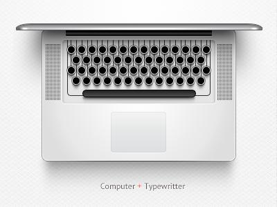 Mac Typewriter pointless fun macbook typewriter psd