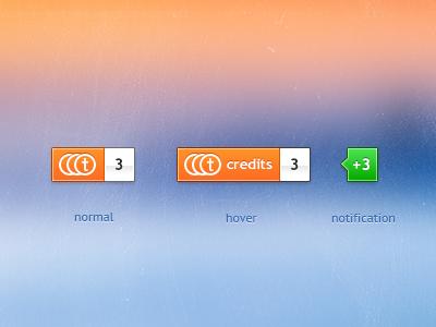 Credits counter thumbtack credit notification counter bank account credits