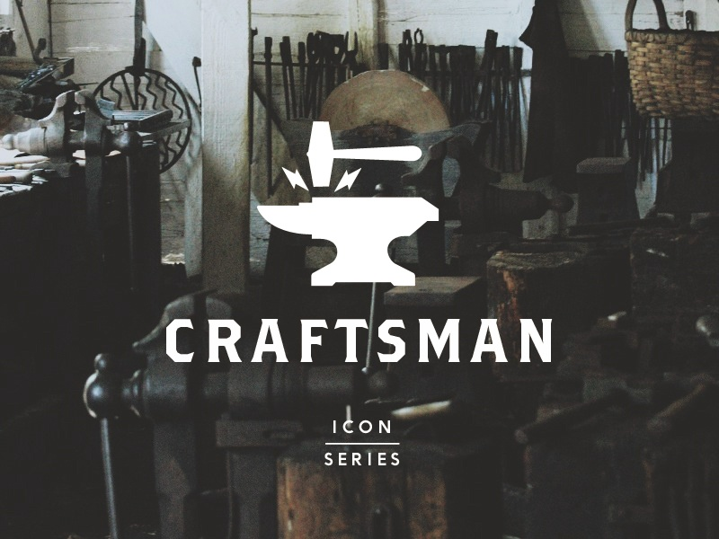 Craftsman Icon Series icon icons iconography anvil hammer industrial resource craftsman workshop hand-tool hand-tools tool tools set series
