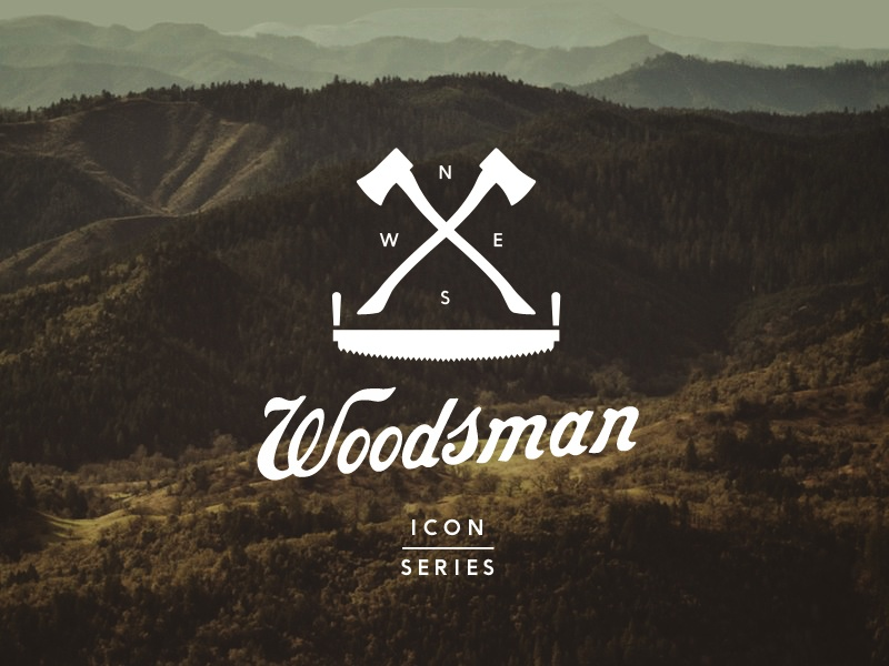 Woodsman Icon Series series set tools tool hand-tools hand-tool woodsman outdoors resource industrial axe axes camping woods wood iconography icons icon
