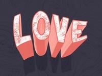 LOVE 3D lettering