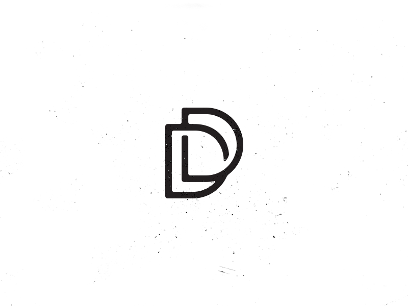 DD Monogram d monogram demastrie logo texture line black