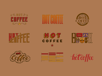 Hot Coffee Lettering Lockups