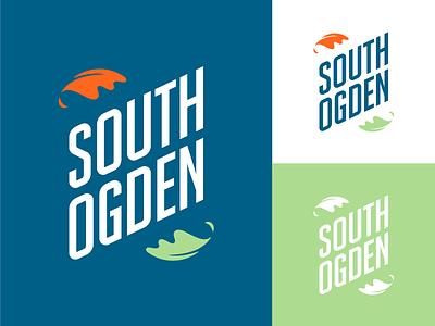 South Ogden final logo branding city type leaf logo utah ut ogden south