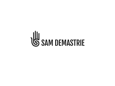 Personal Logo Lockup mark typography demastrie sam spiral personal hand lockup logo